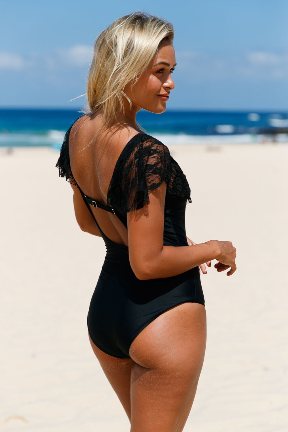 Black-Lace-Ruffle-Cap-Sleeve-One-Piece-Swimsuit-LC410212-2-2