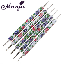 5pcs 2 Ways Ceramics Dotting Painting Drawing Pen Set Rhinestone Beads Pick Up Flower 3D Nail Art Design Manicure Pedicure Kit(China)