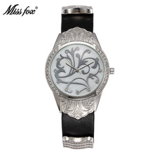 Miss Fox Gold Diamond Quartz Watch Women Ladies Famous Brand Luxury Dress Wrist Watch Flower Montre Femme Relogio Feminino(China)