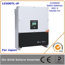 12.5KW Japan Version 300-600Vac DC to AC on grid solar inverter with MPPT transformerless 96% efficiency with MLT string