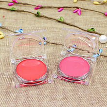 CN-RUBR Professional Women Clotted Cream Blush New Pure Mineral Face Cheek Blush Blusher Powder Cosmetic With Mirror