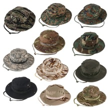 Camouflage Hunter Hat Sniper Hidden Jungle Sports Ripstop Combat Caps Wide Brim Bucket Hat Camping Hiking Head Wear