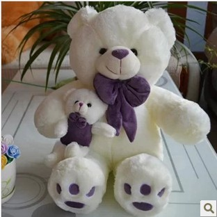 Free shipping 70cm teddy bear plush toy the mother come with kid bear plush toy<br>