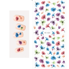 WATER TRANSFER DECAL NAIL STICKER CARTOON ANIMATION FLYING FLOWER PETAL ANIMAL PETS YE423-428