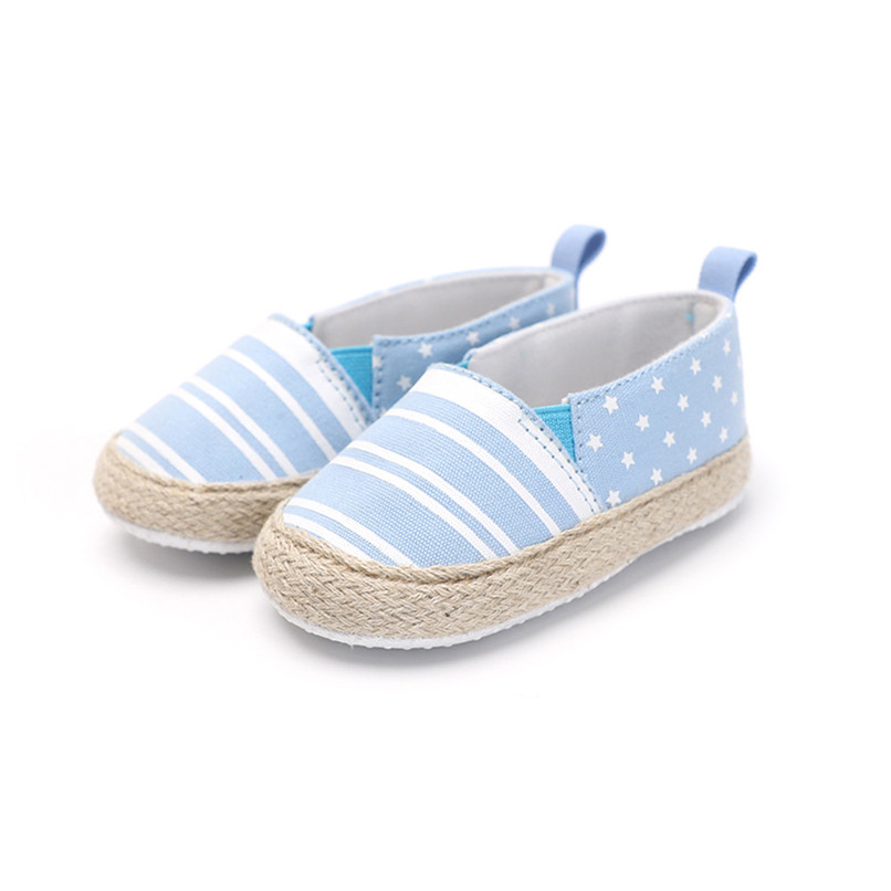 Baby Girl Shoes Toddler Infant Baby Girl Dot Striped Crib Shoes Soft Sole Anti-slip Single Shoes Baby First Walker Shoes M30#F (9)