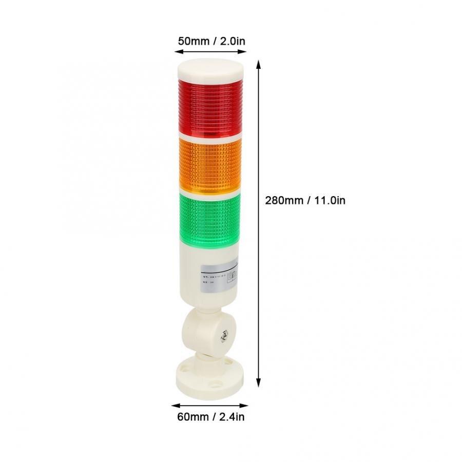 verde CNC Spia segnale allarme 24VDC Indicatore LED di allarme macchina rosso