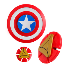 Buy Avengers Fidget Spinner Iron Man Captain Shield Hand Finger Spinner EDC Anxiety Stress Relief Toys Kid Adult #E for $2.53 in AliExpress store