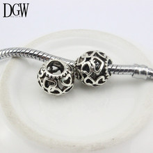 DGW Free Shipping Daisies Murano Flower Heart European Beads Diy Bead Charms Fit Pandora Bracelets & Bangles B5-01-04
