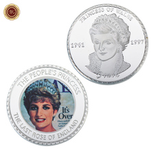 WR Home Decor Customized 1 oz 999 24k Silver Coin Princess Diana Challenge Coin Metal Art Crafts England Royal Gift Coins(China)