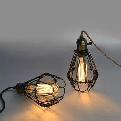 Free shipping Loft vintage pendant light metal bird cage light E27 / E26 Edison bulb pendant light 90-265V/220V<br><br>Aliexpress