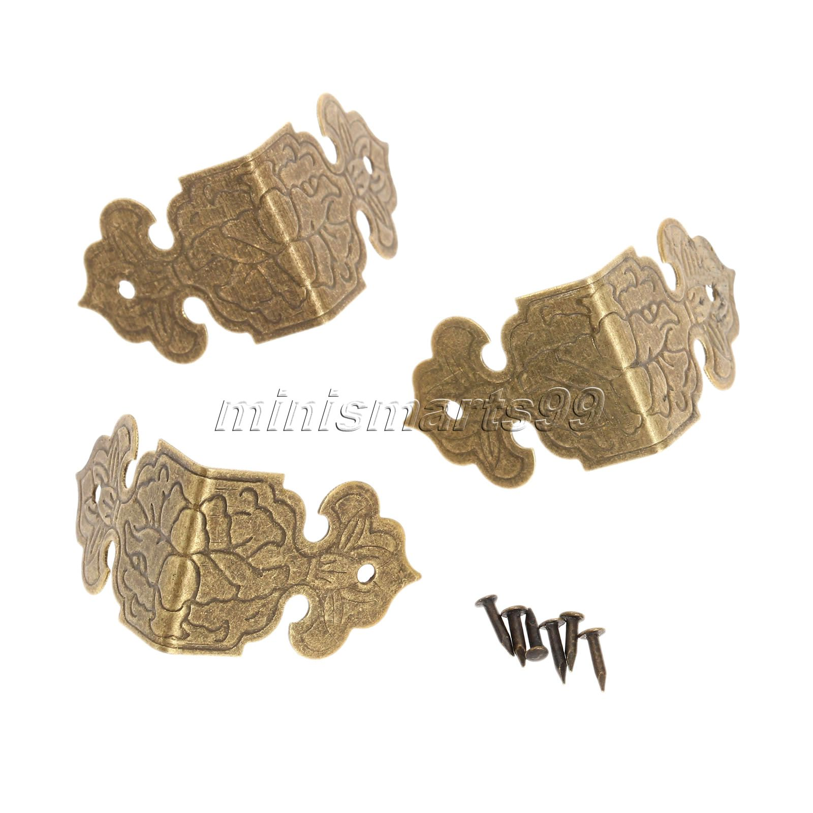 12x Bronze/Golden Decorative Corner Brackets Jewelry Chest Gift Wood Box Edge Mental Corner Protector Furniture Fittings 25x25mm<br><br>Aliexpress