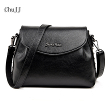 Buy High Women's Genuine Leather Handbags Rivet Shoulder CrossBody Bag Fashion Messenger Bags Women Bucket Bags Ladies for $23.45 in AliExpress store