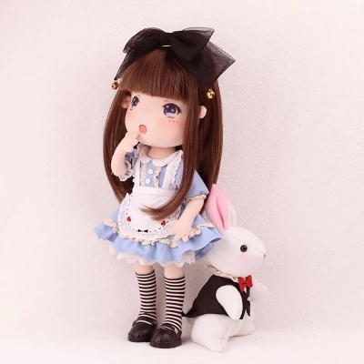 diy  material  sets  Handmade doll and bunny  stuffed toy Alice  doll  doll making doll<br>