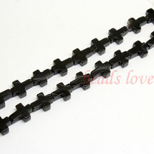 Natural Stone Beads 12mm*17mm Black Agata Cross Beads For Jewelry Making 15.5inches/strand DIY Jewelry(w03003)