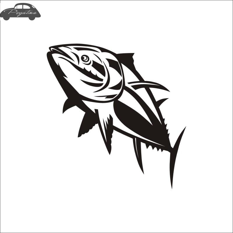 Pegatina Tuna Fish Thunnus Thynnus Car Decal Calamar Posters Boat Decals Decor Mural Wall Sticker Angling Hooks Shop Vinyl
