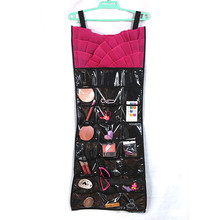 1x Sweet Fold Dress Hanging Jewellery Organizer Bag Little Pockets PVC Storage Bags