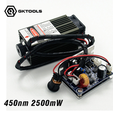 450 nm, 2500 mW 12V High Power Laser Module have TTL,Adjustable Focus Blue Laser module. DIY Laser engraver machine accessories.