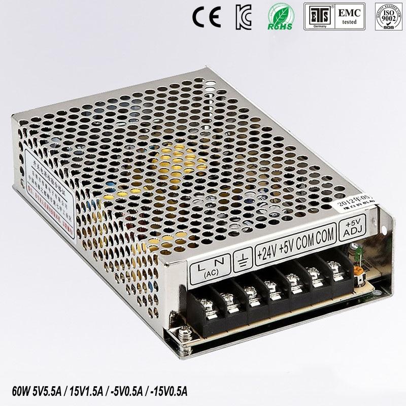 quad output power supply 60W 5V 15V -5V -15V power suply Q-60C  Amultiple output ac/dc power supply<br>