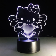 Hello Kitty Figurine Nightlight Led Lamp Hola Luz Gatito Ciao Gattino Luce Ola Luz Gatinho Night Light Girls Christmas Gifts