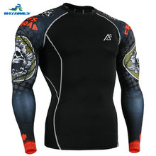 CPD-B5 Discount Fitness Rash Guard Men Rugby Jerseys Soccer Ball Clothing Football Long Shirt Functional Training Exercises Tops(China)