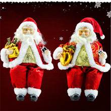 1PC Christmas Decoration Santa Claus Doll Christmas Children Kids Gift Ornament Display Prop Festival Home Party Supplies CKG43