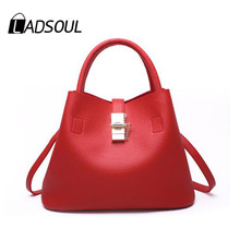 Ladsoul new arrival pu leather women handbags crossbody mothers causal totes women should bag cluth bags female messenger parce(China)