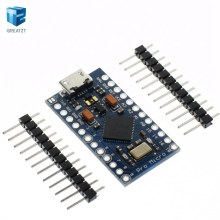 5pcs New Pro Micro for arduino ATmega32U4 5V/16MHz Module with 2 row pin header For Leonardo in stock . best quality(China)