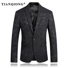 TIAN QIONG Printing Pattern Jacket Men Blazer Slim Fit New Luxury Blazer Masculino Size S-3XL Business Suit Men Blazer Jacket(China)
