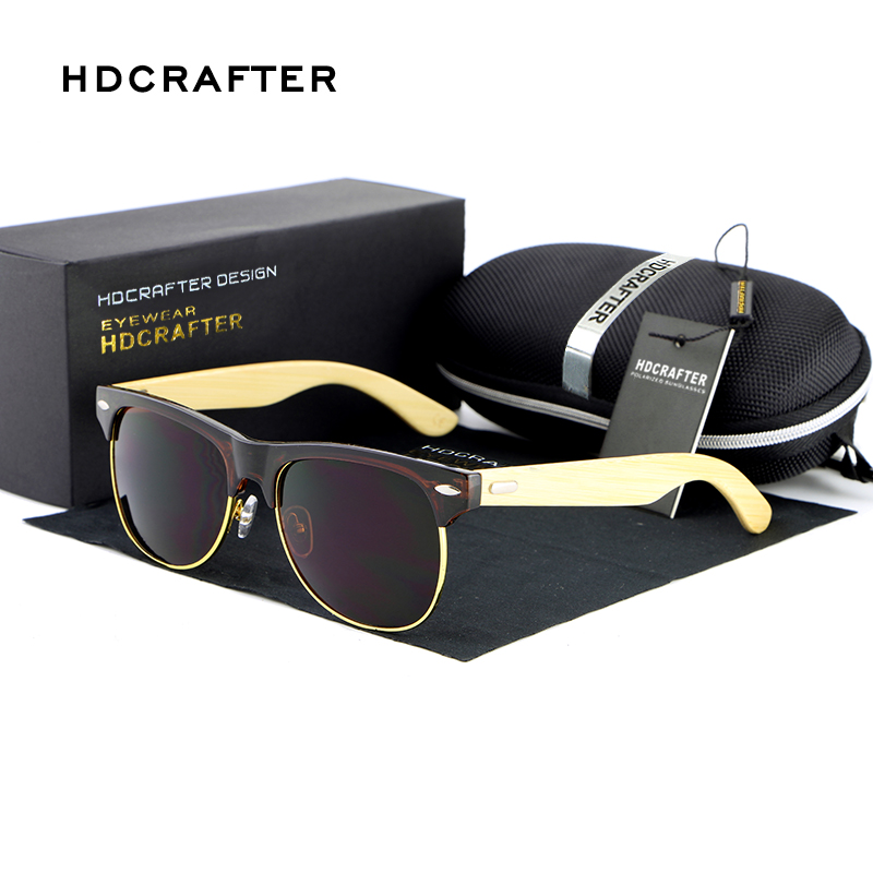 HDCRAFTER Fashionable Wood Sunglasses Men Reflective Sun Glasses Half frame Eyewear Gafas De Sol Oculos De Sol Feminino<br><br>Aliexpress