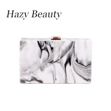 Hazy beauty acrylic lady shoulder bag bride chic handbag loved design girls cross body Chinese tradition pictures lookings A212(China)