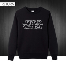STAR WARS men Fanny 2016 casual letter printed top quality hoodies cotton printed man's sweatshirts pullover free shipping