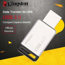 Original Kingston USB Flash Drive 32GB PenDrives 16GB USB 3.0 64GB Metal Pen Drive 128GB U Disk Memory Stick 128GB(China)