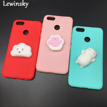 For Samsung Galaxy S6 Edge S7 Edge S8 S8 Plus Note 8 Case Lovely Squishy 3D Silicon Cartoon Lazy Cat Bear Paw Cute Phone Cases(China)