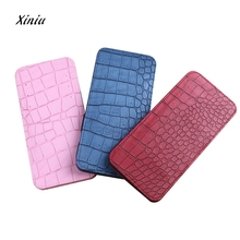 2017 New Leather Women Korean Cute Mini Neutral Crocodile Magic Bifold Leather Wallet Card Holder Wallet Purse Money Bag(China)
