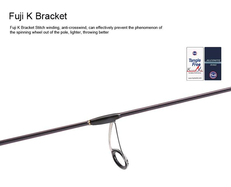 Tsurinoya 4' 6 UL Carbon Spinning Rod 1-6g Lure Weight, 2-6lb Line Weight Ultralight Fuji Fishing Rod Carbon Ul Spin Rod  (10)