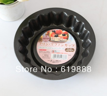 P06 Mini Black Cake Stencil Carbon Steel Bakeware Dish Pudding Molds Bread Pan Oven Accessories