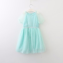 Promotion Soft Mesh Dazzel Tulle Dresses For Girls Princess, Children Baby Fairy Sweet Dress  5 pcs/lot, Wholesale