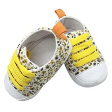 Toddler Kids Casual Lace-Up Sneaker Soft Soled Baby Crib Shoes First Walkers 0-18M