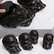 New hand made Terminator T600 1:1 skull storage box LED eyes can be lit new in stock now