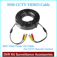 2016 New Cctv Camera Accessories BNC Video Power Siamese Cable for Surveillance DVR Kit 30 mt 65ft CCTV Cable(China)