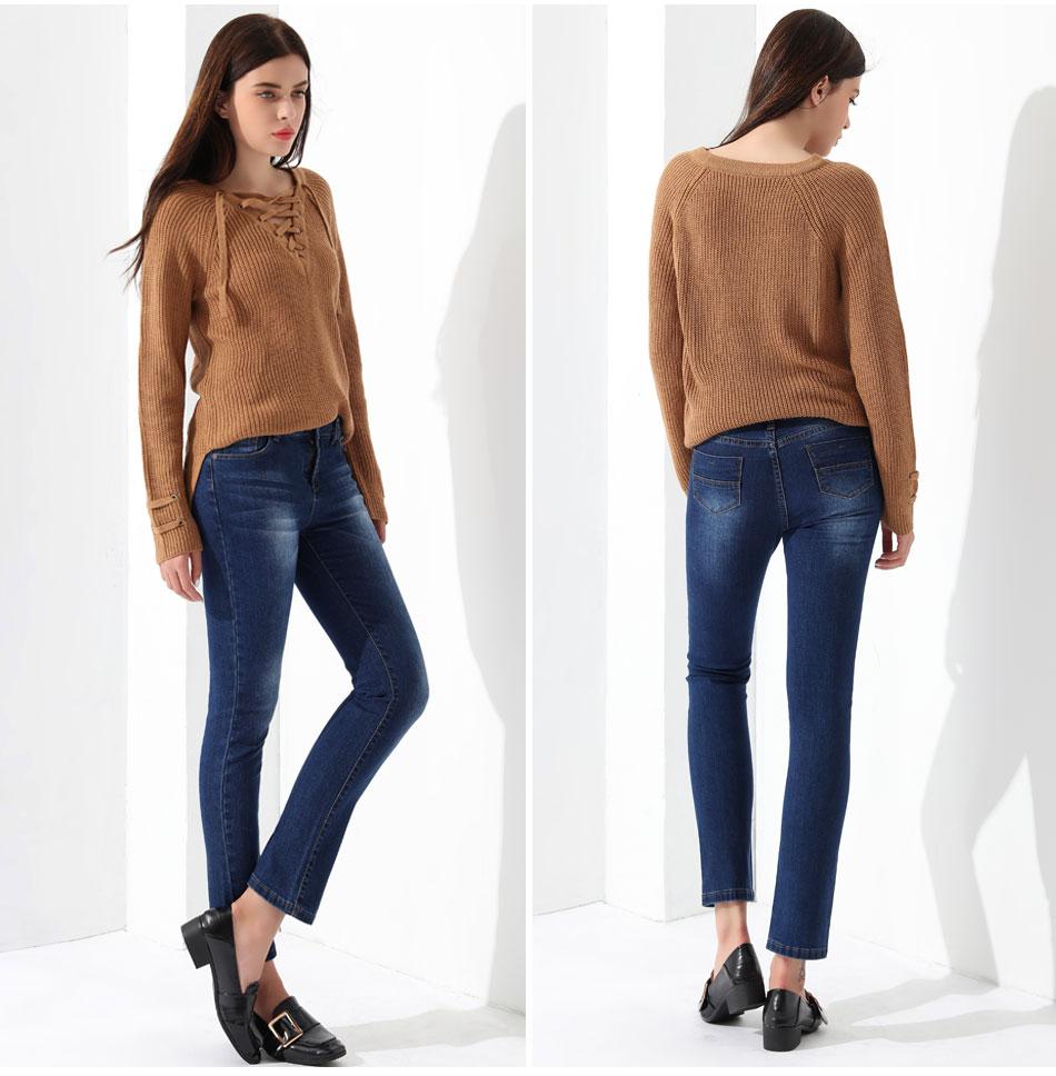 Women's Pullover Long Sleeve KnittedSweater 34