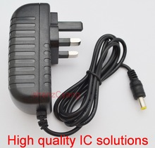 1PCS 9V 3A High quality IC solutions DC 9V 3A Switch power supply, 27W LED power adapter, UK plug 5.5mm x 2.1mm-2.5mm(China)