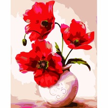 Vase Oil Painting DIY Digital Painting Special Offer Hand-Painted Dining Room Flower Decorative Landscape Painting Acrylic Paint