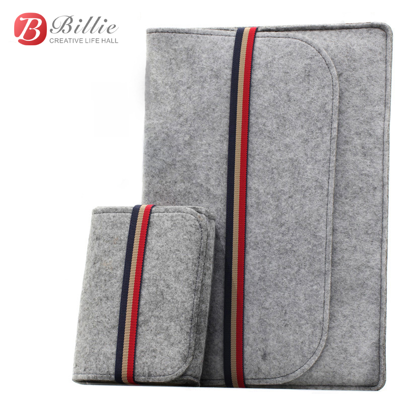 "Newest ! Fashion Laptop Case Cover For Macbook Pro/Air/Retina Notebook Sleeve bag 11""12""13"" Wool Felt Ultrabook Sleeve Pouch Bag(China)"