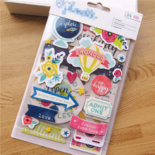 Wonder 3D Die Cut Self-adhesive Stickers for Scrapbooking/Card Making/Journaling Project DIY(China)