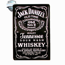 vintage home decoration Jack Daniel's old time Wall Stickers Decor  Retro Tin Metal Signs Plaques neon signs for bar feyenoord