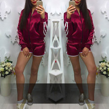 Top Sale Women Summer Sexy Fashion Letter Printed Shorts Tops Women's Tracksuits Slim Long Sleeve Sporting Suits 2 Piece Set
