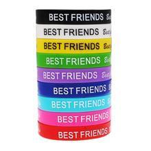 10 Pcs Unisex Turret Games Silicone Word Customzied Best Friend Bracelets Bangles Rubber Flexible Friendship Bracelets Wristband(China)