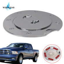 WISENGEAR Car Oil Case Triple Chrome Plated ABS Fuel Tank Gas Door Cap Cover For Dodge Ram 1500 2500 3500 2009 - 2017 Silver