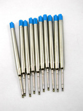 10 PCS Good Quality Ball Pen Blue Refills For Stationery Pen Refill(China)
